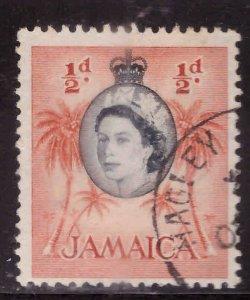 Jamaica Scott 159 used QE2 stamp