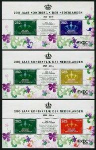 HERRICKSTAMP NEW ISSUES DUTCH CARIBBEAN Sc.# 67-69 Kingdom of Netherlands S/S