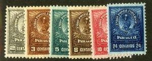 PARAGUAY 51-6 MH SCV $3.80 BIN $1.75
