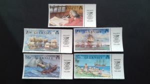 Guernsey 1990 250th Anniversary of Lord Ansons Circumnavigation of the GlobeMint