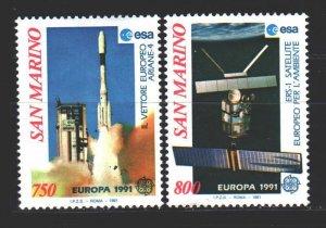 San Marino. 1991. 1465-66. Europe space. MNH.