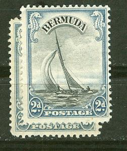 Bermuda # 108 George V Yacht  Shade Variety (1) Unused VLH