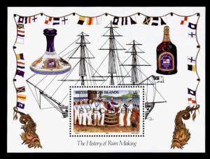 Virgin Islands 545 Specimen o/p MNH Ship, Rum Industry, Up Spirits