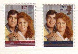 Great Britain Sc 1154-5 1986 Royal Wedding stamps mint NH