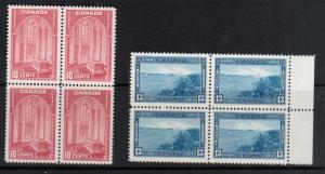 Canada #241 - #242 Very Fine Never Hinged Block Duo
