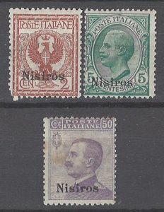 COLLECTION LOT # 2135 ITALY NISIRO 3 STAMPS 1912+