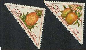 Gabon; Scott J34-J35; 1962;  Postage Due; Unused; NH
