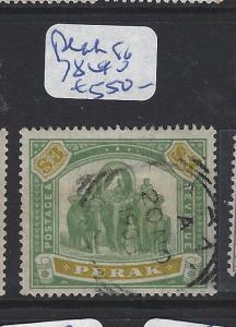 MALAYA PERAK  (P1111B)   ELEPHANT $3.00  SG 78    VFU