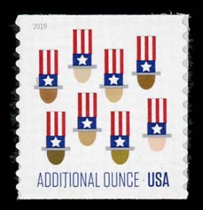 USA 5341 Mint (NH) U.S. Flag Coil (15c Additional Ounce)