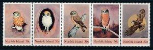 [I2667] Norfolk Is. OWLS stamp set in strip very fine MNH