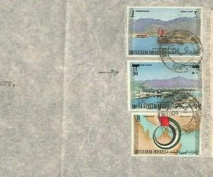 Persian Gulf ABU DHABI Cover UAE *Surcharge Issue*1976 Commercial Air Mail Ap545