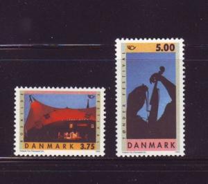 Denmark  Scott 1031-32 1995 Festivals stamp set mint NH