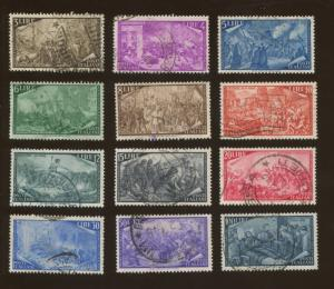Set of 12 1948 Italy Revolutionary Battle Scenes Postage Stamps #495-506