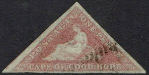 CAPE OF GOOD HOPE 1855 TRIANGLE 1D PERKINS BACON PRINT USED