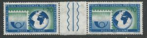 Italy #875 Paris Postal Conference  GUTTER PAIR   (1)  Mint NH