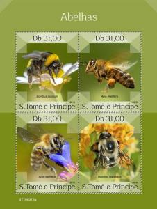 Z08 ST190313a Sao Tome and Principe 2019 Bees MNH ** Postfrisch