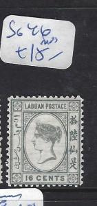 LABUAN (P2407B)  QV CAMEO 16C   SG 46     MOG