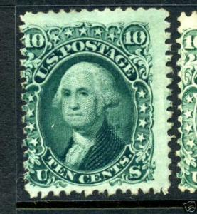 Scott #68 Washington Unused  Stamp (Stock #68-11)