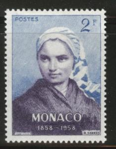 MONACO Scott 413 MH* 1958 stamp