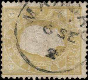 PORTUGUESE INDIA - 1892 - MARGAO DATE STAMP ON MiNr.154A/YvNr.125A 4 1/2R