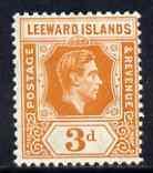Leeward Islands 1938-51 KG6 3d orange mounted mint SG107