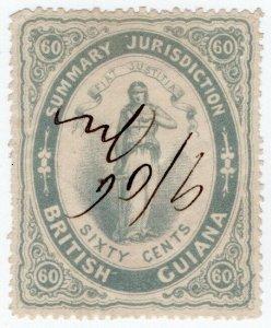 (I.B) British Guiana Revenue : Summary Jurisdiction 60c (1865)