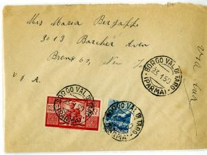 Italy Stamps #477 Tied on Neat Cover to New York VF and Rare