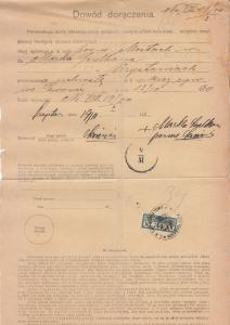 West Ukraine - 14.11.1900 Power of Attorney using 34h fiscal stamp