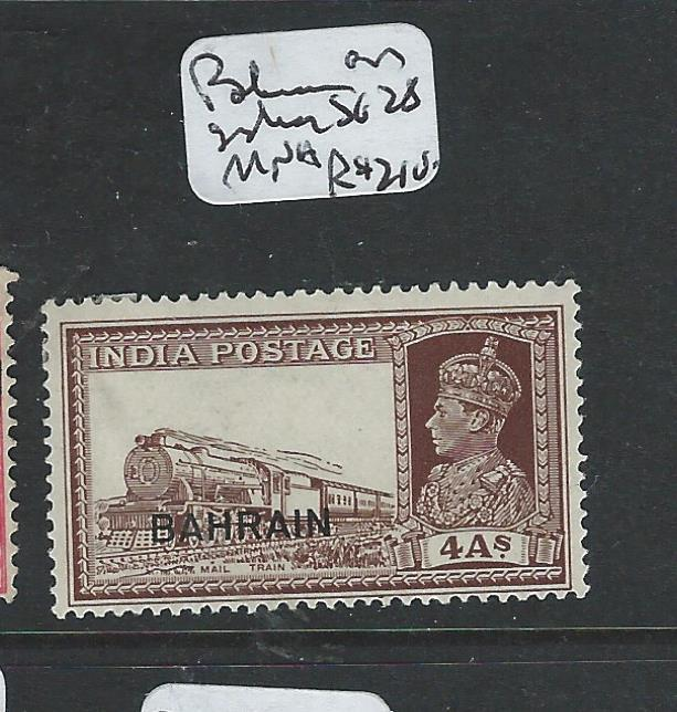 BAHRAIN (P1403B) ON INDIA KGVI 4A TRAIN SG 28  MNH
