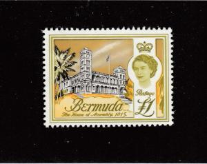 BERMUDA # 191 VF-MNH ONE POUND CAT VALUE $16+