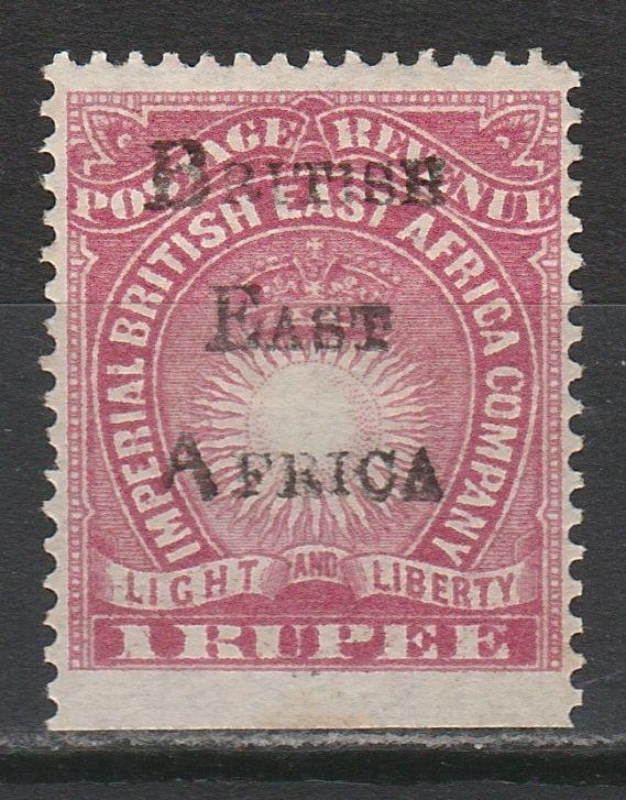 BRITISH EAST AFRICA 1890 LIGHT & LIBERTY OVERPRINTED 1R