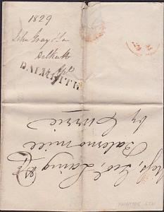 GB SCOTLAND 1829 folded entire DALKEITH to Balerno Mill by Currie...........7215