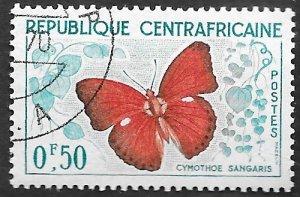 Central African Republic Scott #4 .50fr Butterfly (1961) MH