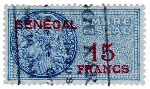 (I.B) France Colonial Revenue : Senegal Duty 15Fr