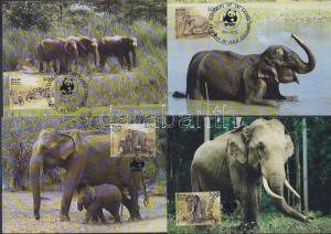 Sri Lanka stamp 1986 WWF Elaphants on 4 CM  WS33349