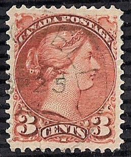 Canada #37B 3cent COPPER Stamp used EGRADED SUPERB 98 XXF