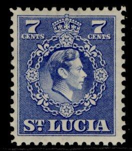 ST. LUCIA GVI SG152, 7c ultramarine, M MINT.