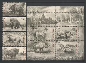 Moldova 2010 Animals Extinct Fauna of Moldova, 8 MNH stamps