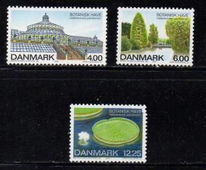 Denmark Sc 1193-5 2001 Botanical Gardens stamp set mint NH