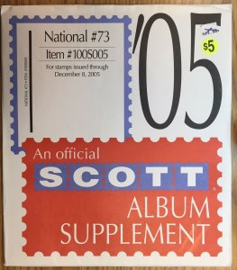 Scott National #73 Item #100S005 Album Supplement (through 2005)