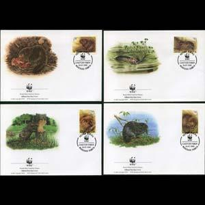 BELARUS 1995 - FDC-WWF Beavers Set of 4(WG624)