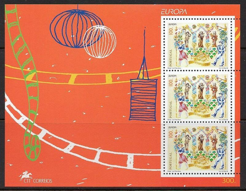 Portugal 1998 National Festivals Europa SS VF MNH (2225a)