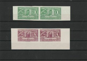 Nicaragua 1937 Imperf Mounted Mint Stamps Pairs Stamps ref 21913