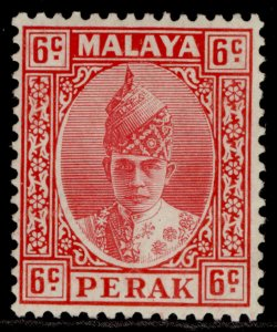 MALAYSIA - Perak GVI SG109, 6c scarlet, M MINT. Cat £27.