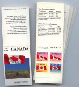 Canada - 1990 50c Flag Booklet X 25 Complete #BK111