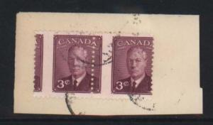 Canada #286 Used Misperf Pair On Piece
