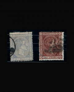 VINTAGE:SPAIN 1875 USD SCOTT # 217-18 $ 80 LOT # VSWSP1875-72