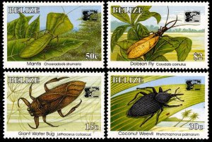 HERRICKSTAMP BELIZE Sc.# 1037,1039-40,1044 Insects