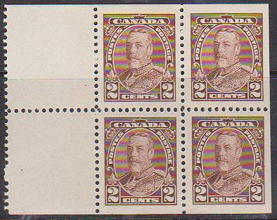 Canada - 2c Booklet Pane of 4 mint #218a