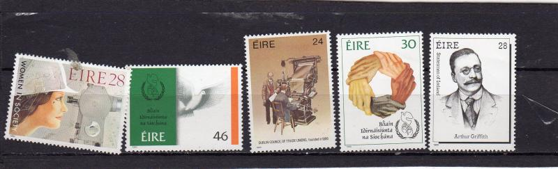 Ireland 1986 Annivrrsaries and Int Year of Peace MNH